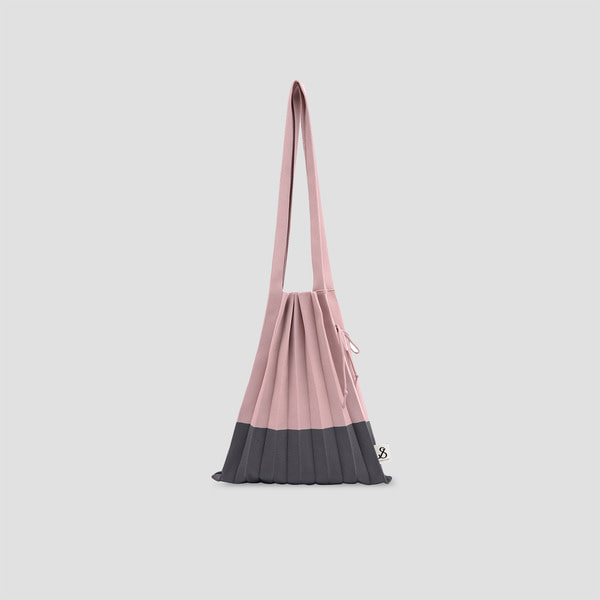 Lucky Pleats Knit M Neutral Pink