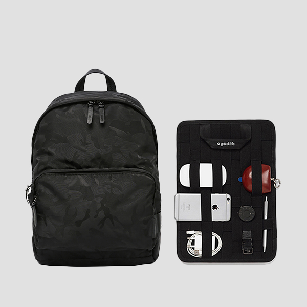 [슬리피 착용] Ultra Backpack L Camouflage Black(+Organizer)
