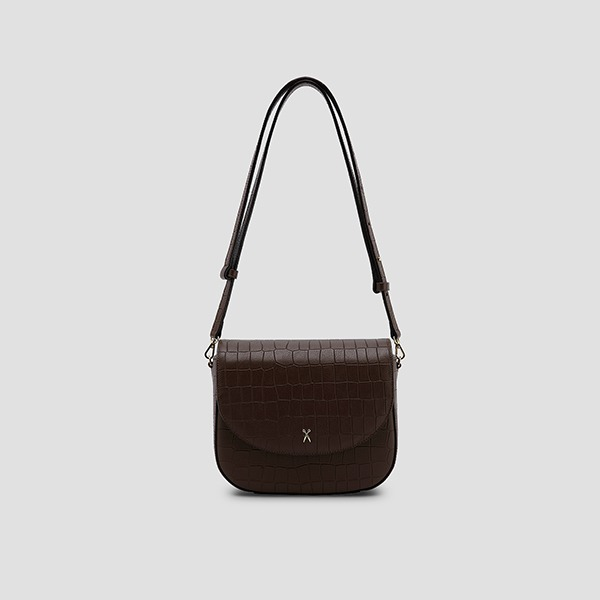 Luna Disco Cross Bag Dark Brown
