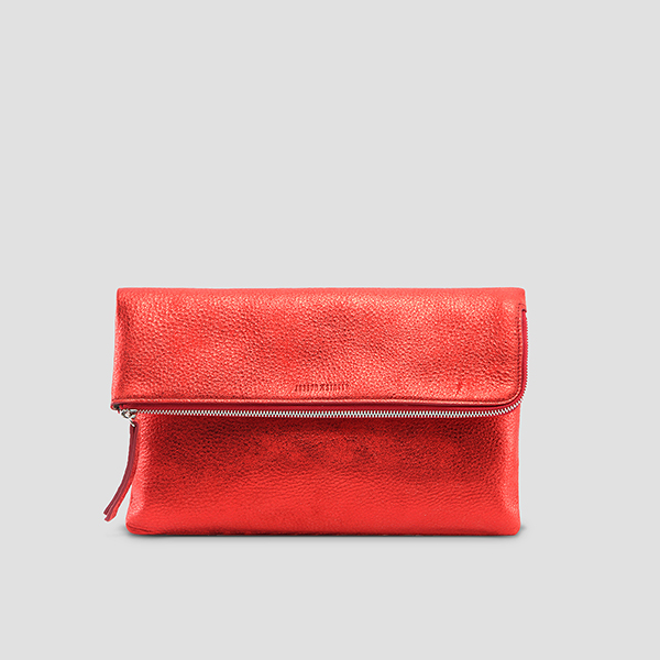 Maggie Folded Clutch Vibrant Red