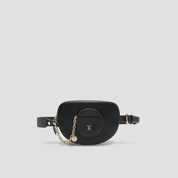 [하니/강소라 착용]OZ Mini Belt Bag Rich Black