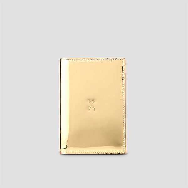 [재입고예정 4/1] Easysafe Flap It Passport Wallet Mirror Gold
