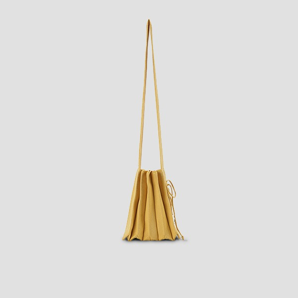 Lucky Pleats Knit Warm Crossbag S Old Gold