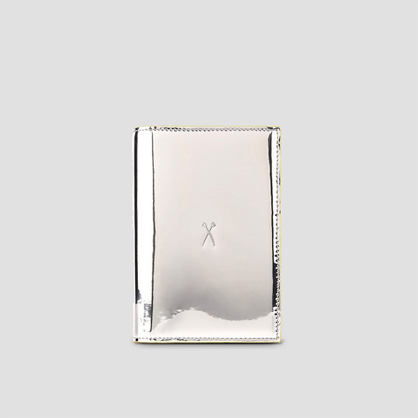 Easysafe Flap It Passport Wallet Mirror Silver