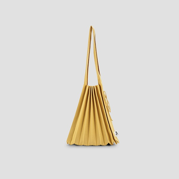 Lucky Pleats Knit Warm Crossbag M Old Gold