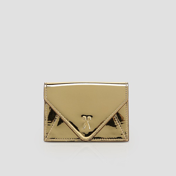 Easypass Amante Card Wallet Mirror Gold