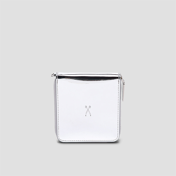 Easypass OZ Wallet Bolt Mirror Silver(+Silver Chain)