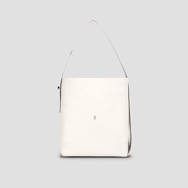 [박나래/아이즈원 안유진 착용]Joseph Shopper L Mirror Mix Whisper White(Silver)(+Pouch)