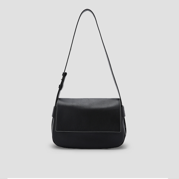 [정유미/이유영 착용]Luna Bubble Cross Bag Rich Black