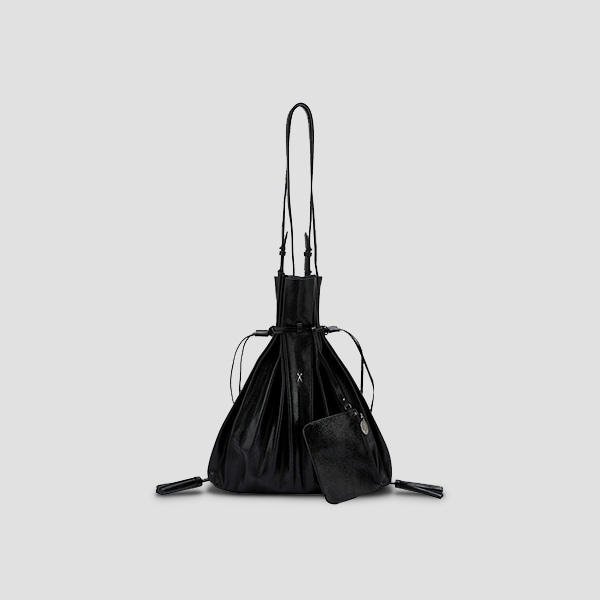 [카드 전소민 착용]Lucky Pleats Shopper Cracked Black