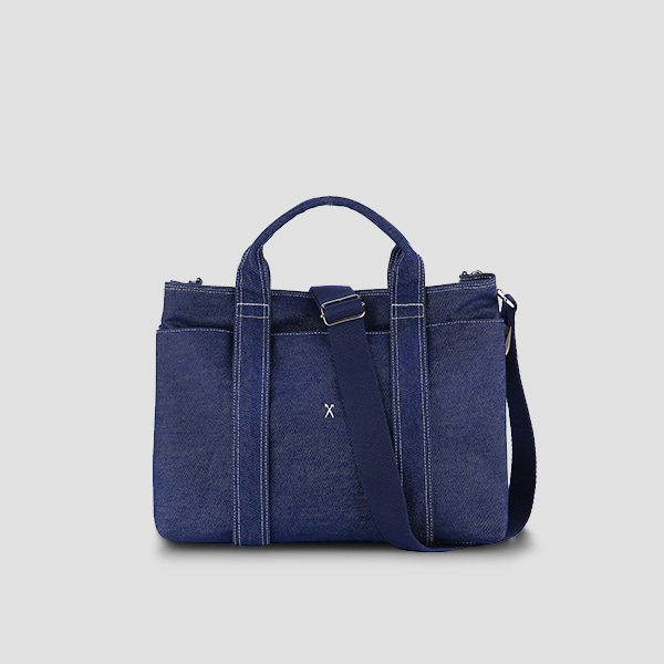[신소율 착용]Stacey Daytrip Tote Canvas M Denim(+Webbing Strap)
