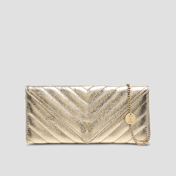 Easypass Amante Flat Wallet Long Eve Edition14k Gold(+Chain Strap)