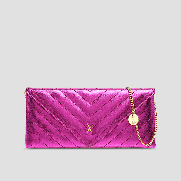 Easypass Amante Flat Wallet Long Eve EditionBubble Pink14k Gold(+Chain Strap)
