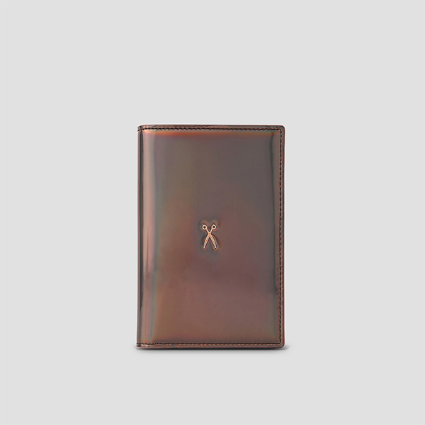 Easysafe Flap It Passport Wallet Mirror Brown