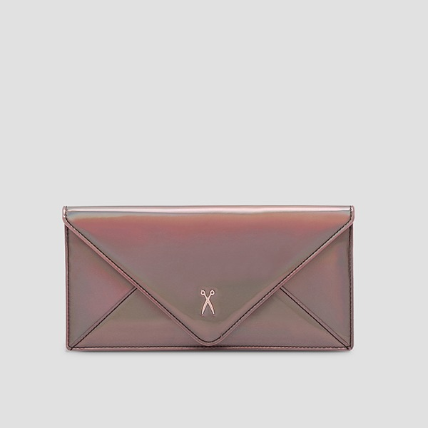 Easypass Amante Flat Wallet Long Mirror Brown