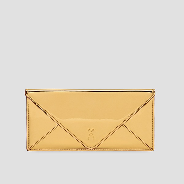 Easypass Amante Flat Wallet Long Mirror Gold