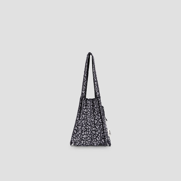 [Sold Out]Lucky Pleats Knit S Leopard Charcoal/Grey