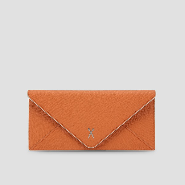 [전혜빈 착용]Easypass Amante Flat Wallet Long Sand Orange