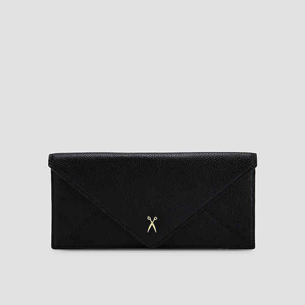 종료 / Easypass Amante Flat Wallet Long Rich Black (m)