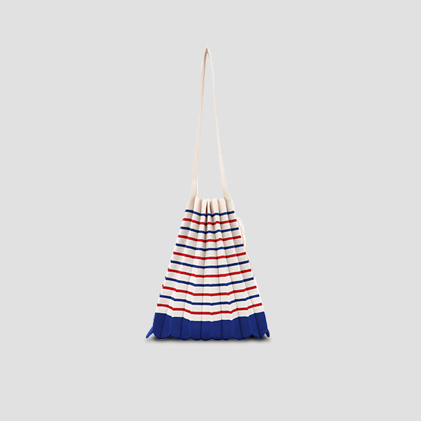 Lucky Pleats Knit M Stripe Royal Blue/Barbados Red