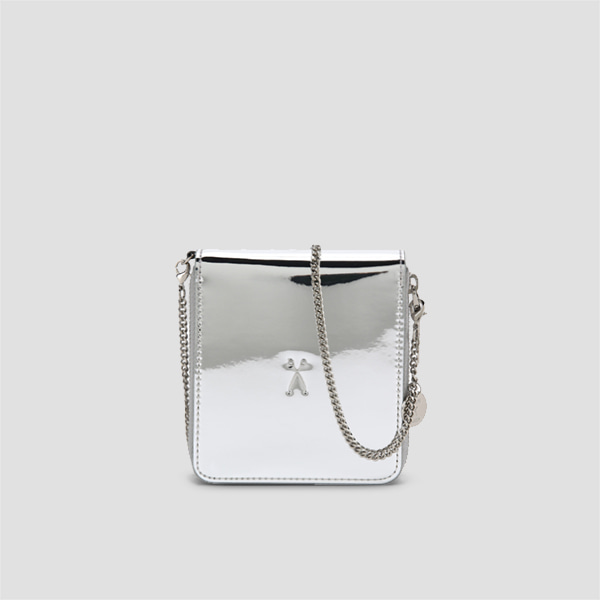 [모모랜드 연우/달수빈 착용]Easypass OZ Wallet Bolt Mirror Silver(+Silver Chain)