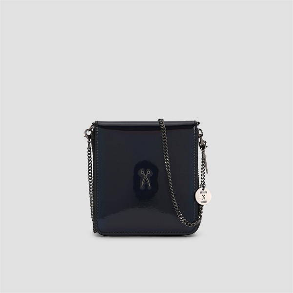 Easypass OZ Wallet Bolt Mirror Black(+Black Chain)