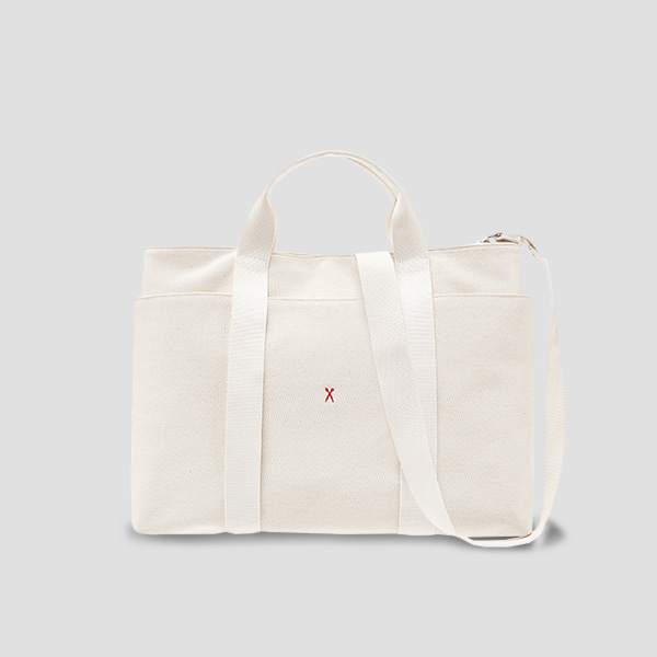 Stacey Daytrip Tote Canvas L Ivory