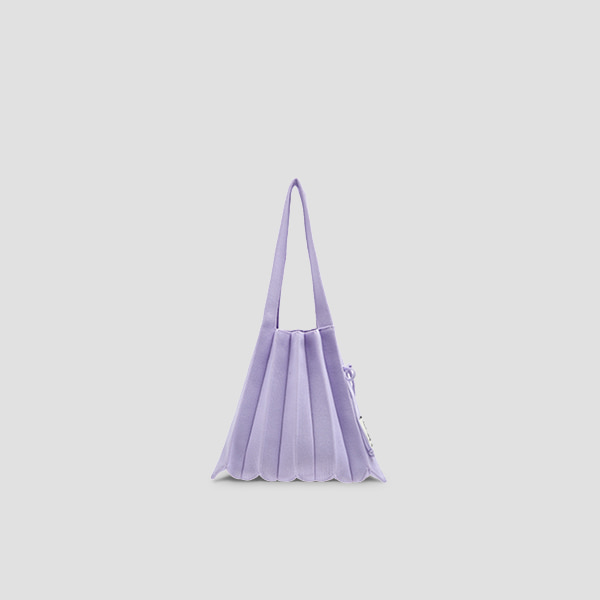 Lucky Pleats Knit S Lavender