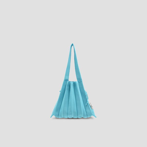 Lucky Pleats Knit S Beach Blue