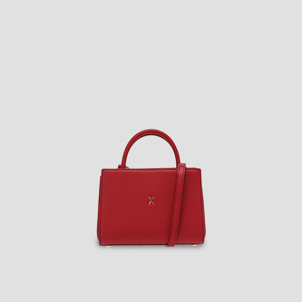 Lucky Pleats Tote S Lucky Red